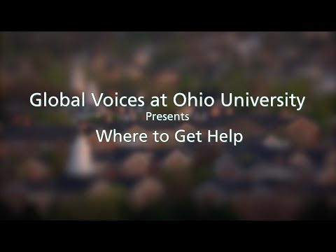 Where to Get Help at Ohio University
