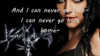 Evanescence Never Go Back lyrics