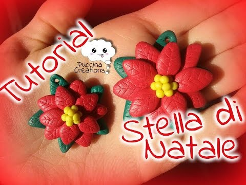 DIY Tutorial Stella di Natale - Christmas Poinsettia (Fimo/Polymer Clay) | PuccinaCreations