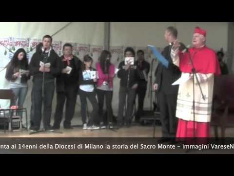 Il cardinale Scola spiega a 5000 14enni la storia del sacro Monte di Varese