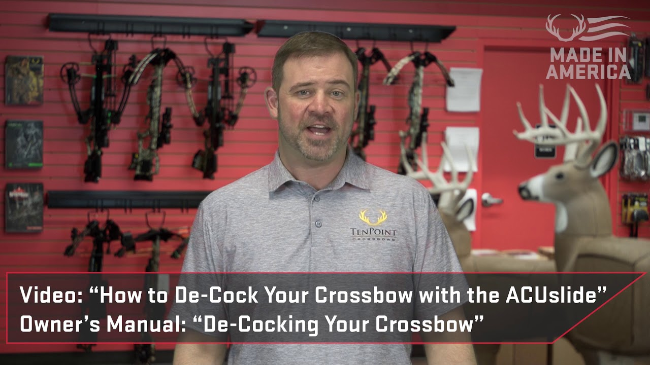 How To Free the Bowstring from the DFI on ACUslide Series Crossbows