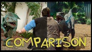Jurassic World Trailer - Homemade Side by Side Comparison
