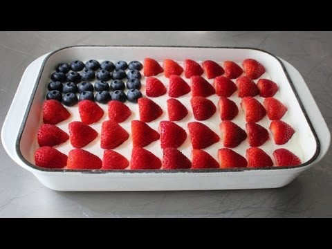 No-Bake Cheesecake Flag Cake — 4th of July Flag Cake