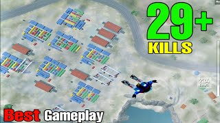 BEST RUSH GAMEPLAY!!!   29+ KILLS SOLO VS SQUAD   PUBG MOBILE