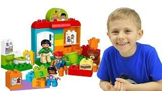Детский Сад LEGO DUPLO Подготовка к школе и Даник. Развивающее видео для детей с конструктором Лего