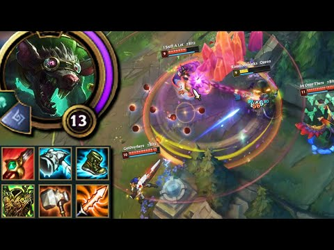 League of Legends but Twitch abuses his natural taunt by going full tank (Biggie Cheese)