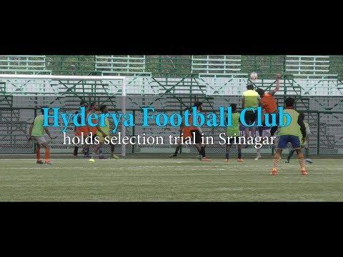 Hyderya Football Club holds selection trial in Srinagar