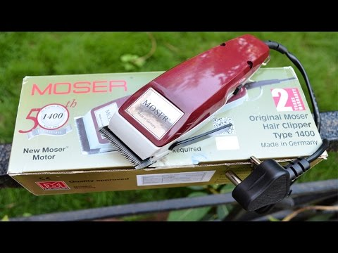 Moser Hair Clipper 1400 – 0016 Trimmer REVIEW, DEMO & UNBOXING