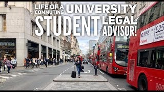 A Day In The Life Of A Commuting University Student Legal Advisor. LPC LLM Law Degree | Vlog