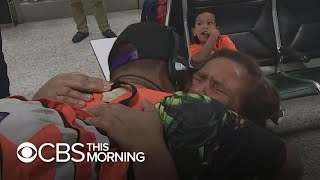 Tearful reunion for mother and 11-year-old son who spent months in ICE custody - Video Youtube