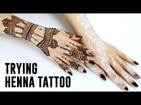 Trying Henna Tattoo