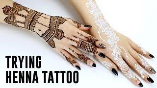 Trying Henna Tattoo