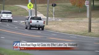Anti-Road Rage Act Goes Into Effect September 1st