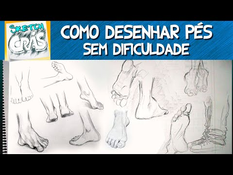 Como desenhar pés
