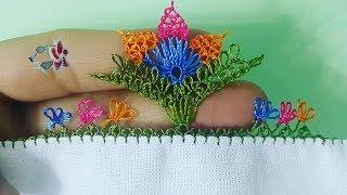 Farklı Iğne Oyası çiçek Modeli   Embroidered Shirts