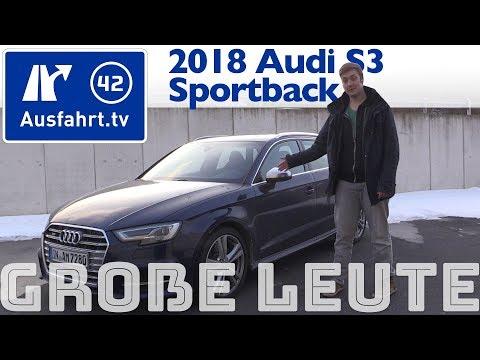 Audi S3 Sportback für große Personen? Ausfahrt.tv hilft.