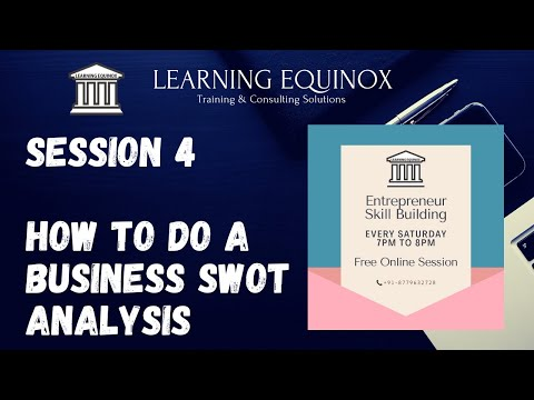 , title : 'Entrepreneur Skill Building - Session 4- Business SWOT Analysis || eLearning case study