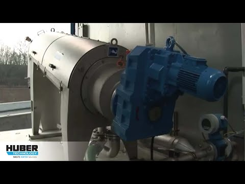 Video: HUBER Screw Press Q-PRESS® (RoS3Q) - here at a municipal WWTP