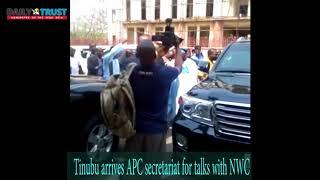 Tinubu arrives APC secretariat for talks with NWC
