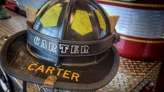 How to Make a Fire Helmet Name Strap