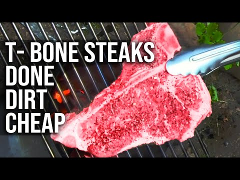 T-Bone Steak done dirt cheap by the BBQ Pit Boys