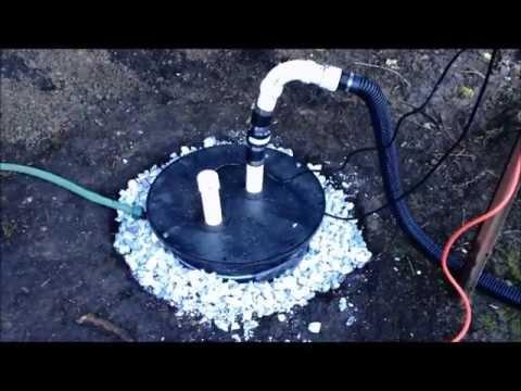 back yard sump pump