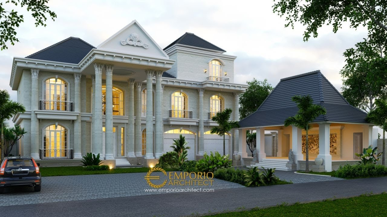 Video 3D Mrs. Ayu Classic House 3 Floors Design - Denpasar, Bali
