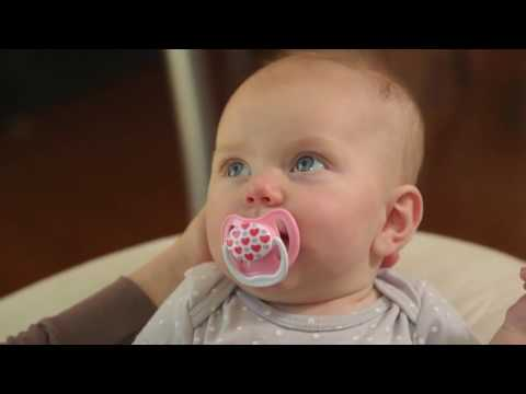 Dr.Browns пустышка PreVent КЛАССИК, 0 - 6 месяцев, с крышкой, для девочек