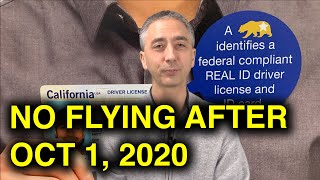 You can't fly US domestic after Oct 1, 2020 without this - REAL ID Warning