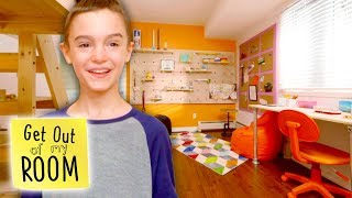Brother Builds ULTIMATE LEGO ROOM For Bedroom Makeover | Get Out Of My Room | Universal Kids