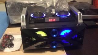 Портативный бумбокс караоке Ailiang UF-1506A-DT сабвуфер USB\ Bluetooth\ FM-тюнер\ Пульт ДУ (Реплика) от компании ТехМагнит - видео