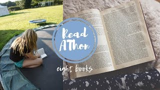 EIGHT BOOKS IN 24 HOURS || READ-A-THON (No Sleep)