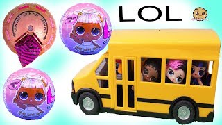 School Bus Girls ! LOL Surprise Glam Glitter + Confetti POP Blind Bag Toys