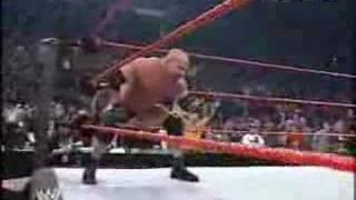 Goldberg vs triple h wwe raw 2003 | Kholo.pk