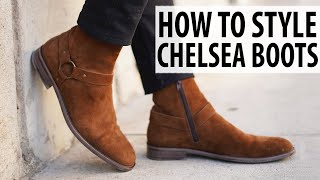 HOW TO STYLE CHELSEA BOOTS | Mens Outfit Inspiration And Ideas | Alex Costa