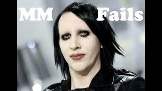 Marilyn Manson - Fails 1996 - 2016 HD !!!