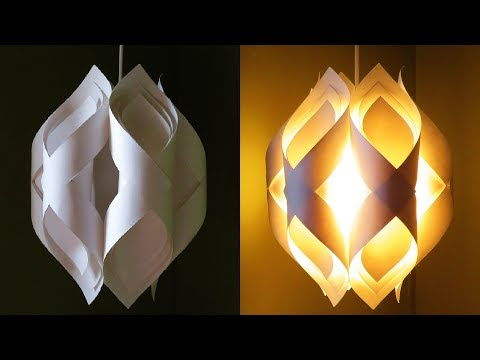 Ogee Paper Lamp - How To DIY An Elegant Paper Pendant Lamp/lantern - EzyCraft Mp3