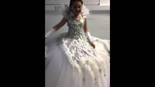 A Very Happy Little Girl In Her Communion Dress