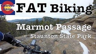 Descending Marmot Passage, winter time on fat bike.