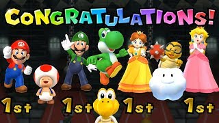 Mario Party 9 - All Characters - Garden Battle #8