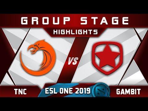 TNC vs Gambit ESL One Hamburg 2019 Highlights Dota 2
