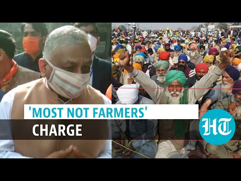 , title : ''Those who take commission...': Union minister VK Singh slams farmer protest