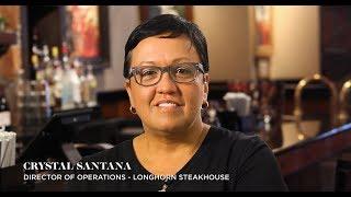 LongHorn Steakhouse employee testimonial video: Crystal Santana