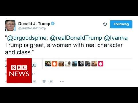 Donald Trump: 'Wrong Ivanka'  hits back after tweet- BBC News