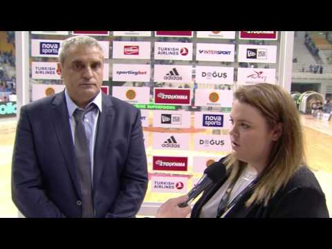 Post-game interview: Coach Pedoulakis, Panathinaikos Superfoods Athens