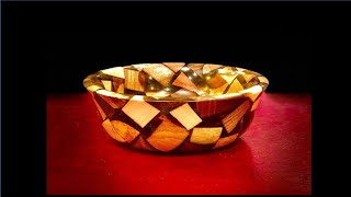 Woodturning: How to turn a resin and wood bowl