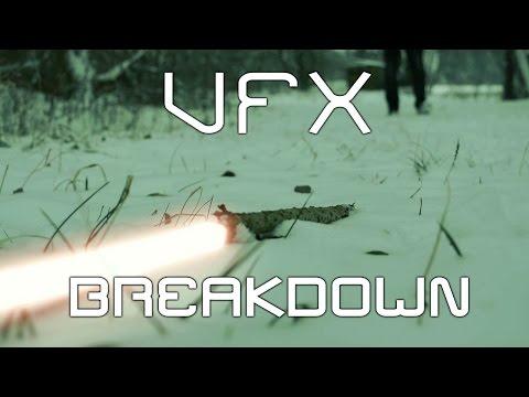 Světelný klacek ,, VFX breakdown,,