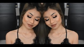 Full Face Makeup Tutorial Using UD Naked Heat Palette