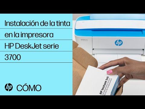 Instalación de la tinta en la impresora HP DeskJet serie 3700