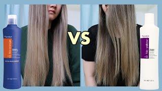 Blue Shampoo VS Purple Shampoo On Light Brown Dark Blonde Hair